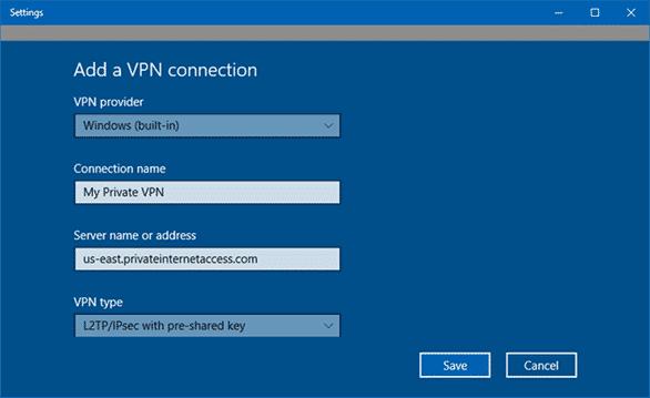 Cách cài đặt VPN cho windows 10 2