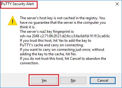 Cách kết nối Server Linux bằng SSH qua PuTTY 2