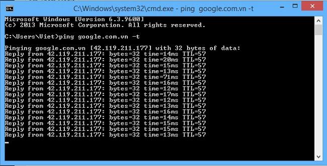 Cách kiểm tra Ping  1