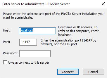 Cài đặt FileZilla 2