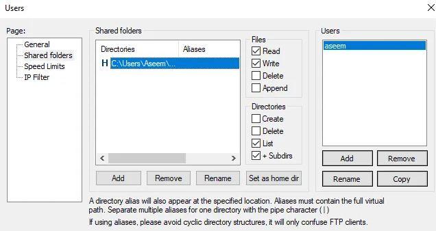 Cấu hình máy chủ FileZilla FTP 3