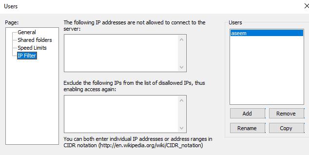Cấu hình máy chủ FileZilla FTP 5