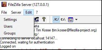Cấu hình máy chủ FileZilla FTP