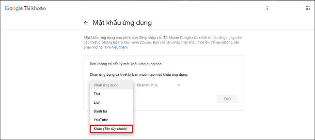 Cấu hình SMTP Gmail 3