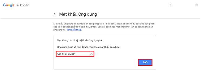 Cấu hình SMTP Gmail 4