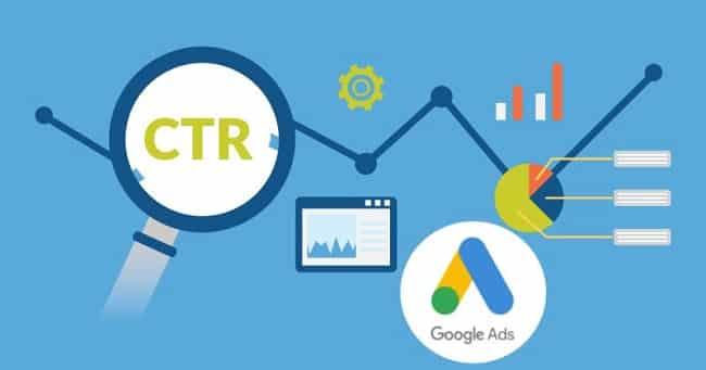 CTR trong Adwords được đo bằng số lần nhấp vào quảng cáo trên số lần hiển thị quảng cáo đó