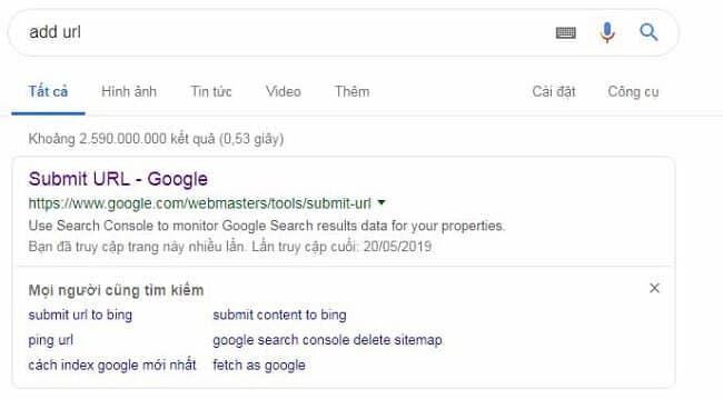 Đưa website của bạn lên Google