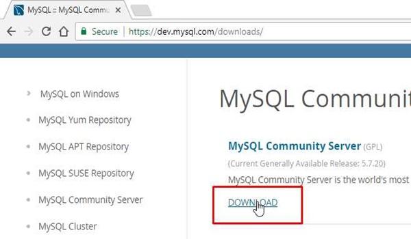 Hướng dẫn cài đặt MySQL Server trên Windows