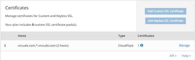 Hướng dẫn cài SSL CloudFlare miễn phí
