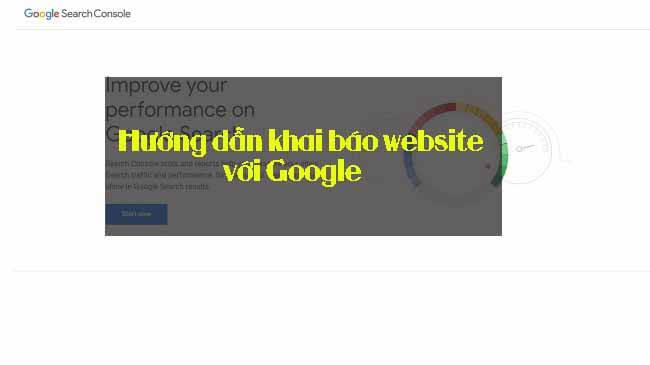 Hướng dẫn khai báo website với Google