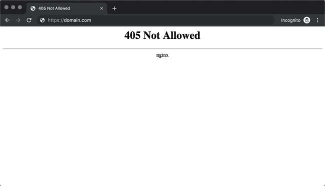 Lỗi Nginx is functioning normally