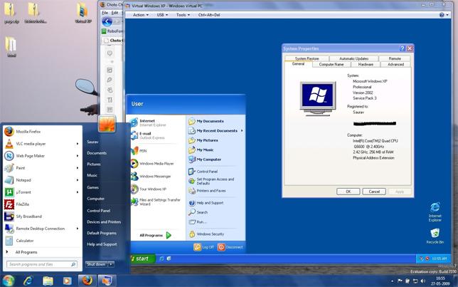 Phần mềm ảo hóa Microsoft Virtual PC