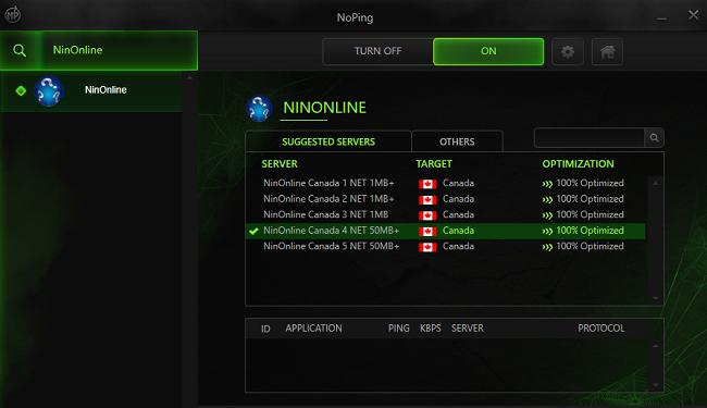Phần mềm giảm Ping miễn phí Noping