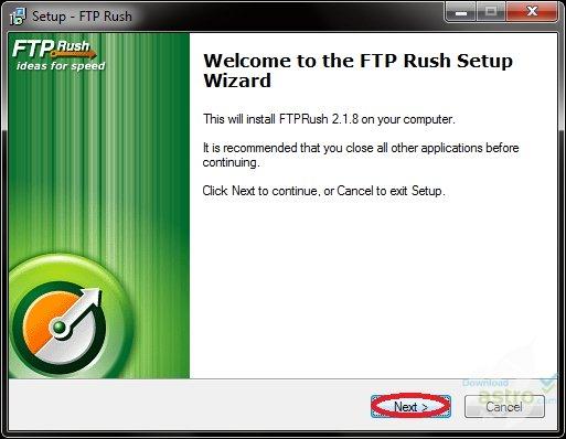 Phần mềm kết nối FTP với FTPRush