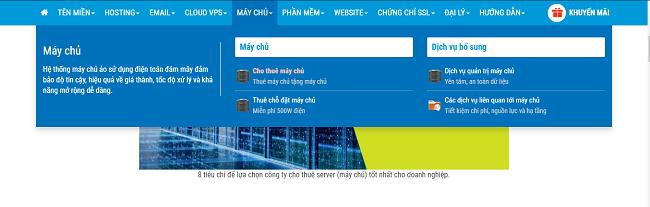 Quy trình đăng ký thuê máy chủ tại BKNS