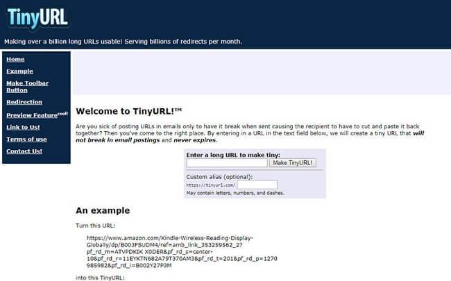 Rút gọn link Tinyurl