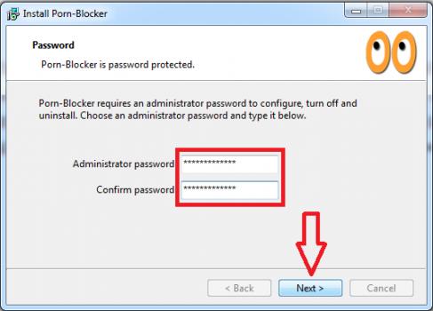 Sau khi thiết lập mật khẩu, xác nhận bạn chọn Next