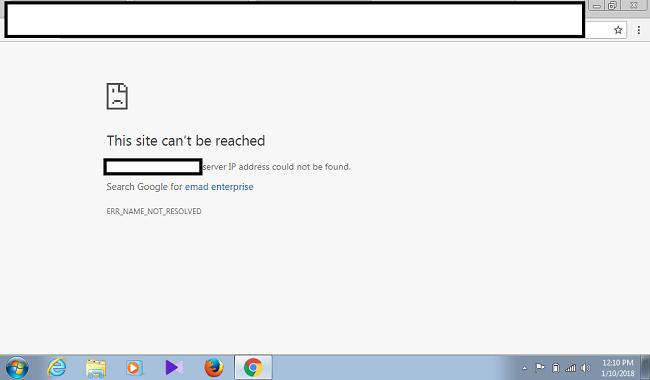 Lỗi Server ip address could not be found là gì?
