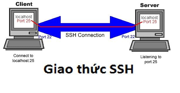 SSH là giao thức kết nối server và client được bảo mật và an toàn