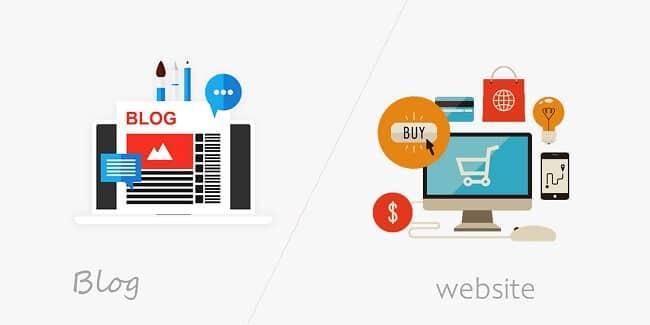 Sự khác biệt giữa Blog và website