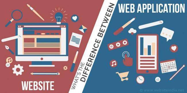 Sự khác nhau giữa ứng dụng web và website