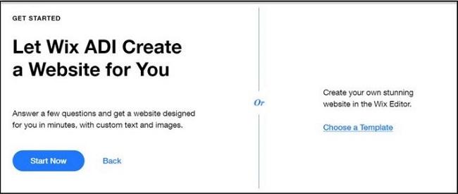 Tạo với website với wix với mẫu có sẵn