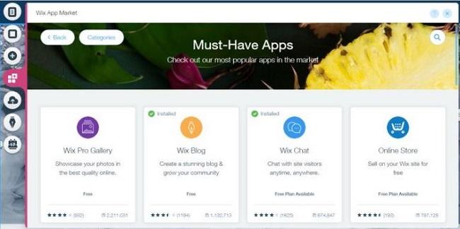 Sử dụng ứng dụng Wix để thêm chức năng mới