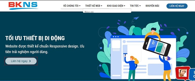 BKWeb là một trong những công ty thiết kế website bán hàng trực tuyến uy tín nhất hiện nay