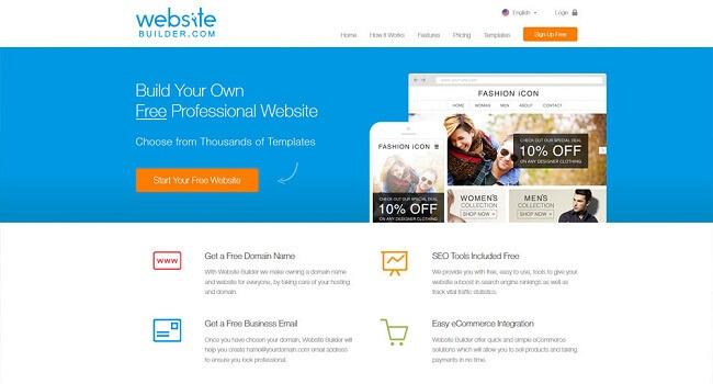 Để thiết kế website free bạn không nên bỏ qua Website Builder