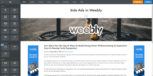 Thiết kế website miễn phí Weebly