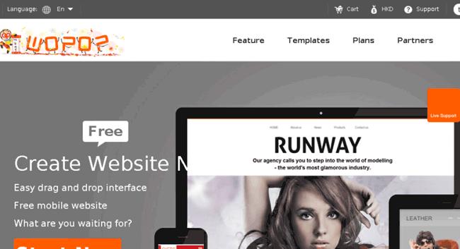 Thiết kế website miễn phí từ Wopop