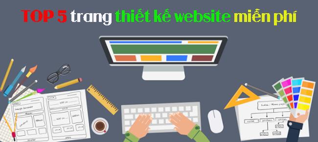 Thiết kế website miễn phí tốt nhất 2020