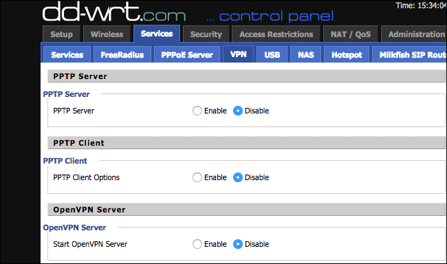 Thiết lập VPN server 1