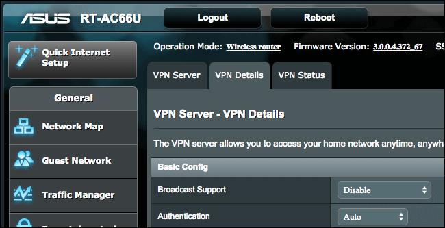 Thiết lập VPN server