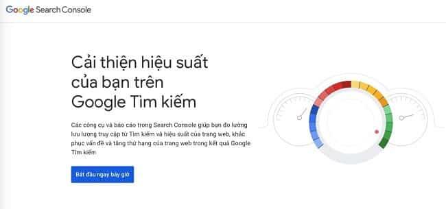 Tiến hành khai báo website lên Google
