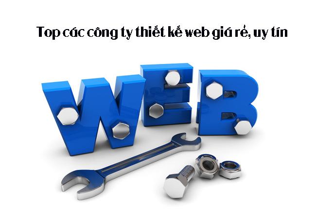 Top các công ty thiết kế web giá rẻ