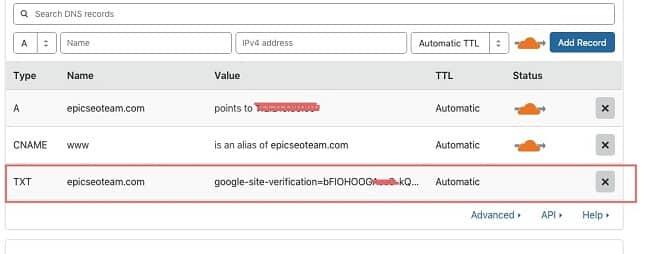 Xác minh bằng DNS tên miền 1