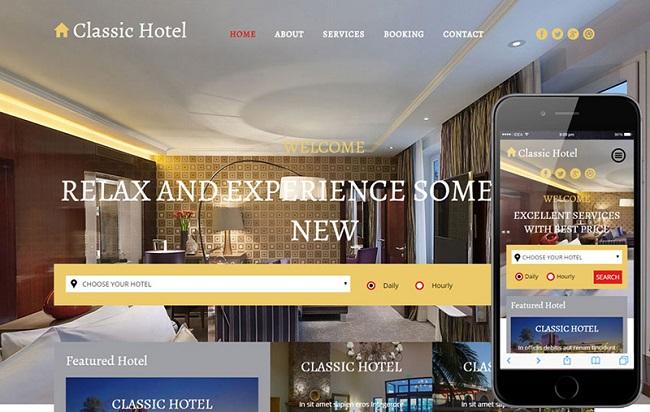 Yêu cầu cần có của website khách sạn