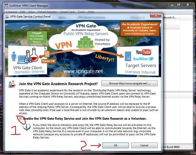 Cách dùng VPN Gate Fake IP 1