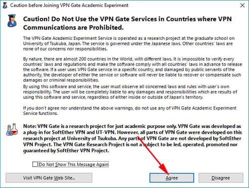 Cách dùng VPN Gate Fake IP 2