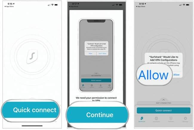 cài VPN cho iPhone bằng ứng dụng của nhà cung cấp