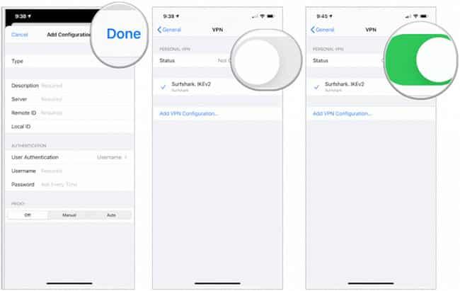 cài VPN cho iPhone theo cách thủ công 1