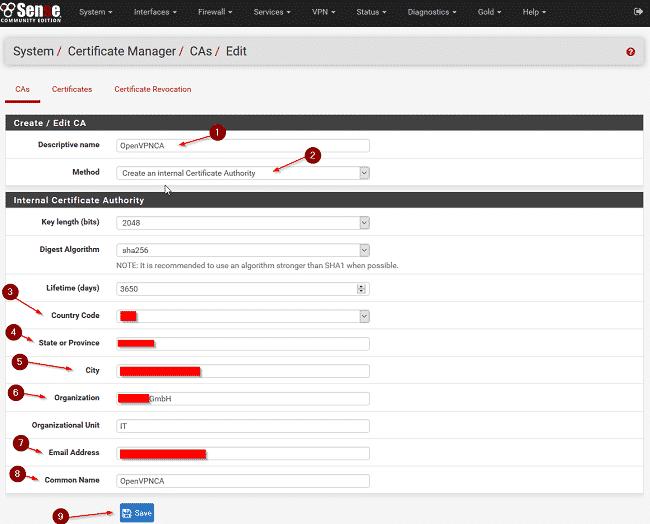 Cấu hình VPN trên Pfsense