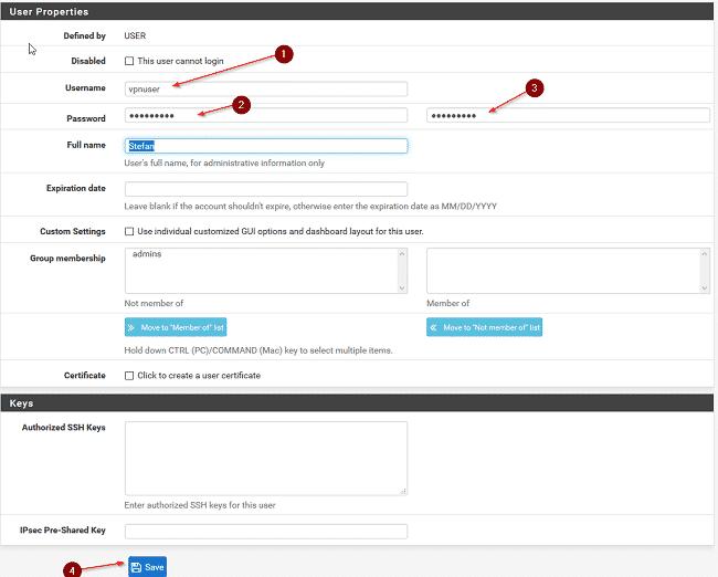 Cấu hình VPN trên Pfsense 5
