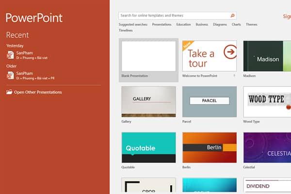 bước 1: Cách làm poster bằng PowerPoint