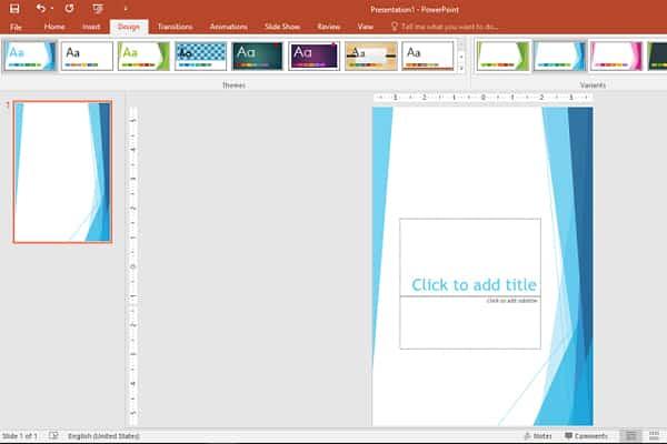 bước 2: Cách làm poster bằng PowerPoint