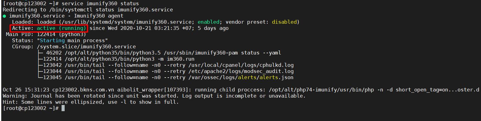 Hướng dẫn cài đặt Imunify360 trên Server Cpanel và Directadmin